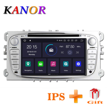 KANOR 1024*600 IPS Android 8.1 2din Car Radio For Ford Focus 2 Mondeo S-Max 2009 2010 2011 Autoradio Multimedia Audio Car Stereo