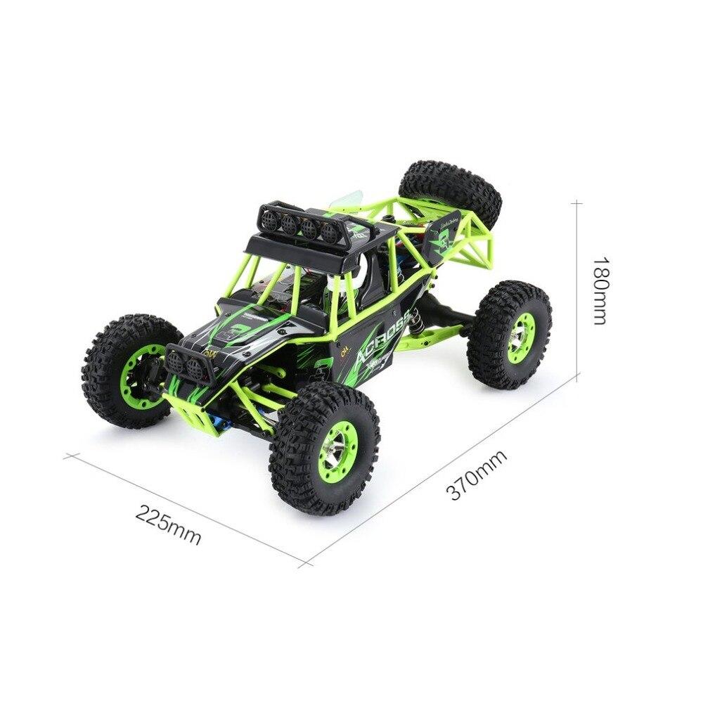 Wltoys 12428 RC Auto Arrampicata Giocattoli 50 KM/H 1/12 Bilancia 2.4G 4WD Telecomando Auto Off road del veicolo regalo del giocattolo Con 1/2/3 Batteria - 4