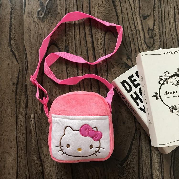 9ad84d8332e4 Cartoon Hello Kitty Plush Bag Baby Girl Wallet Coin Purse Little Shoulder  Bag Girls Bags Kids