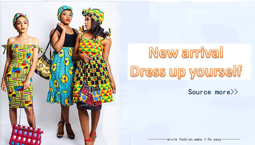 Nova chegada moda africano tecido de impressão