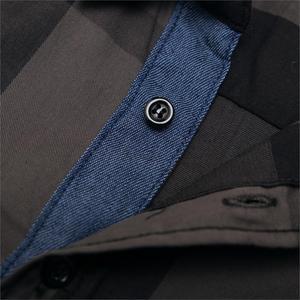 Image 5 - Fredd Marshall Mens Shirt 2019 Summer Fashion Plaid Shirt Men Long Sleeve Casual Slim Fit Shirts 100% Cotton Chemise Homme 199