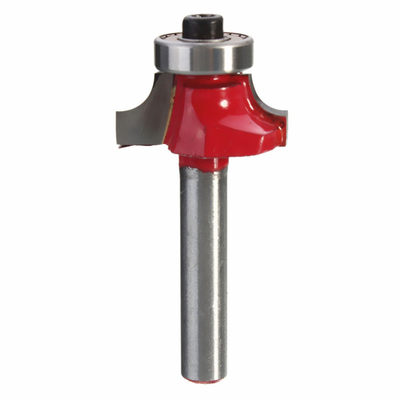 1/4 Inch Shank Round Corners Drill Bits Beading Edging Router Bit Solid Hardened Steel Cutter Tools 3/8 Inch Radius For Woodden  цены