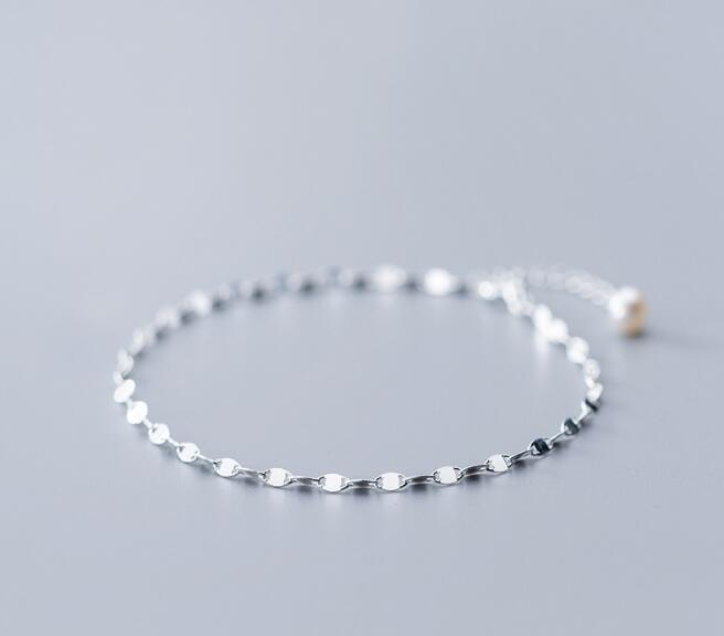 Thin & Slim 2,5mm Authentische Echt 925 Sterling Silber Edlen Schmuck Verdreht Kette Mit Handgemachte Perle Fußkettchen Armband Gtls824 Fußkettchen