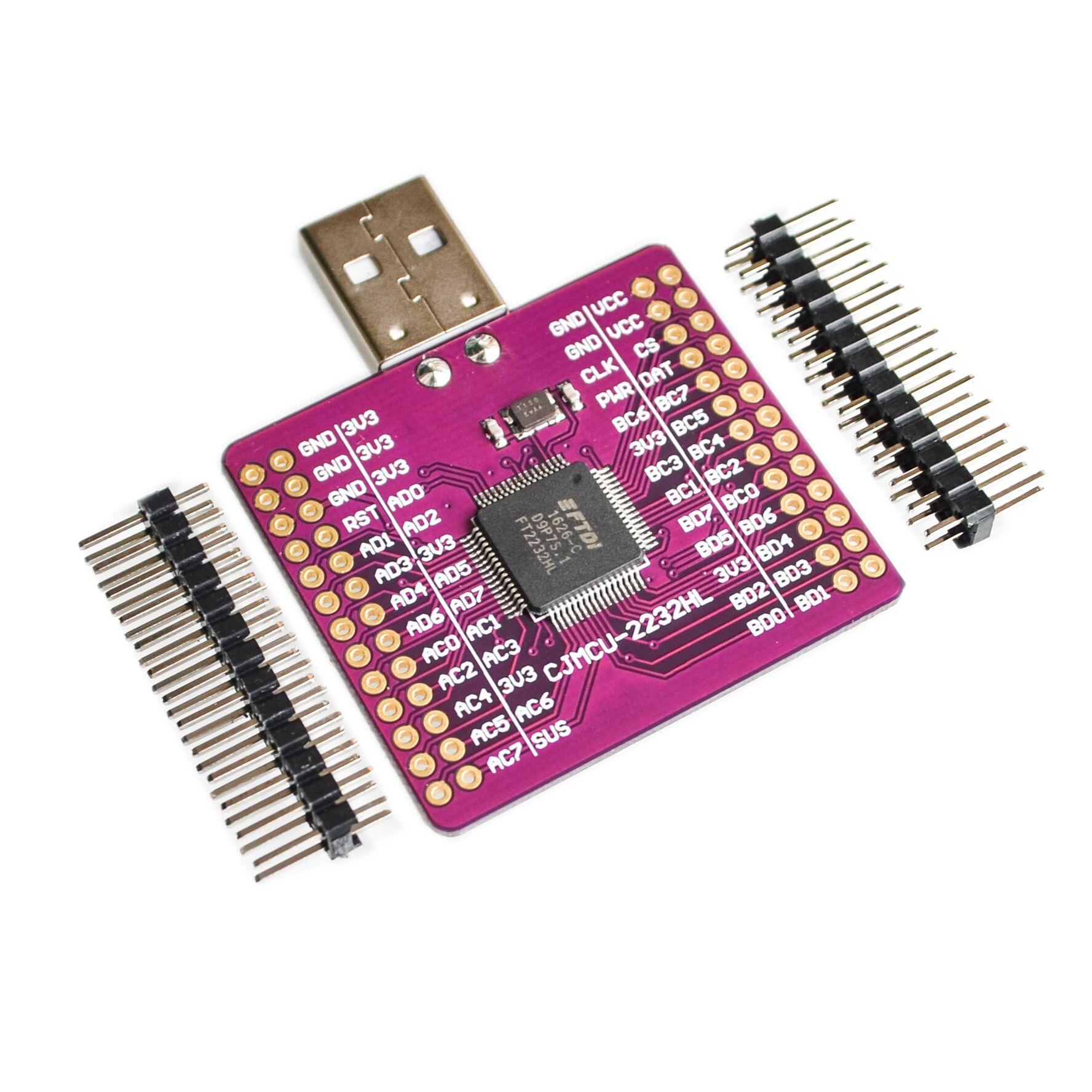 CJMCU-2232 FT2232HL USB TURN UART/FIFO/SPI/I2C/JTAG/RS232 module external memory