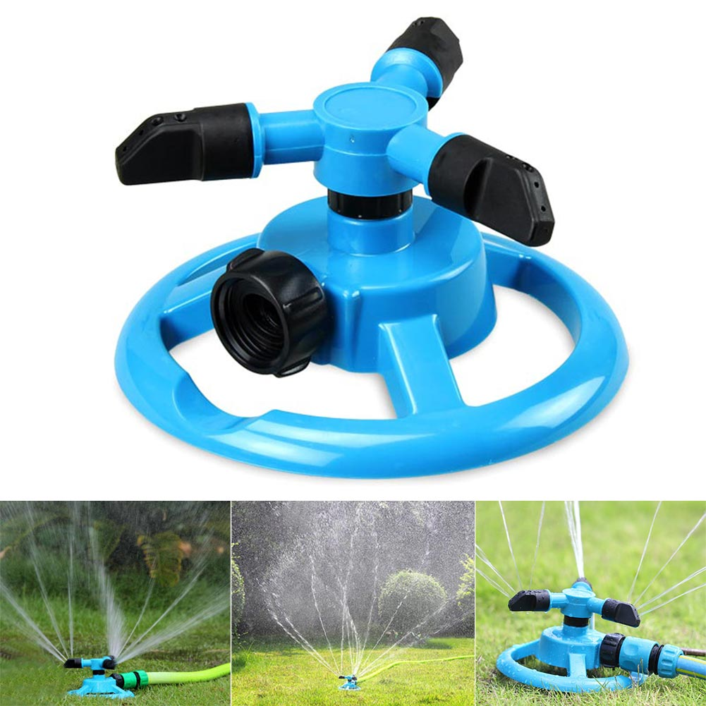 Automatic Water Lawn Sprinklers Irrigation System 360 Gear Rotation Tool Watering Head Garden Supplies XH8Z