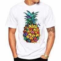 Новинка 2019, летняя модная футболка с рисунком ананаса и пиццы, высокое качество, белые Модальные топы, хипстерские футболки