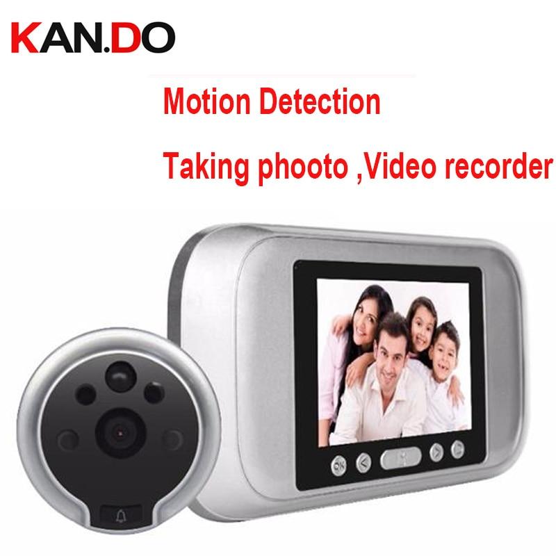 Take photo Video Recorder Motion Detection sensor 4 3 Door Camera Smart Door Peephole Viewer video