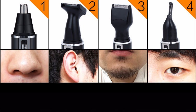 4 in 1 Men\'s Grooming Set Electric Nose Trimmer, Eyebrow Trimmer, Bread Trimmer,Sideburm Trimmer2