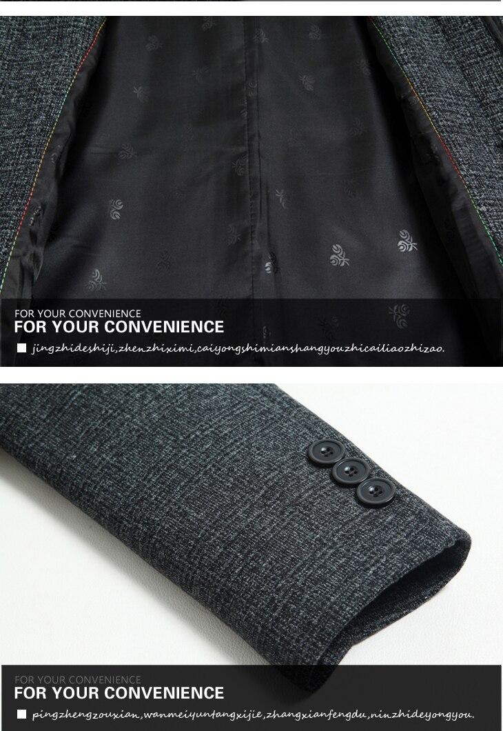 WAEOLSA Mature Men Elegant Jackets Woollen Blends Basic Coat Dark Gray Jackets Aged Man Wool Outerwear Winter Autumn Outfits Father (1)