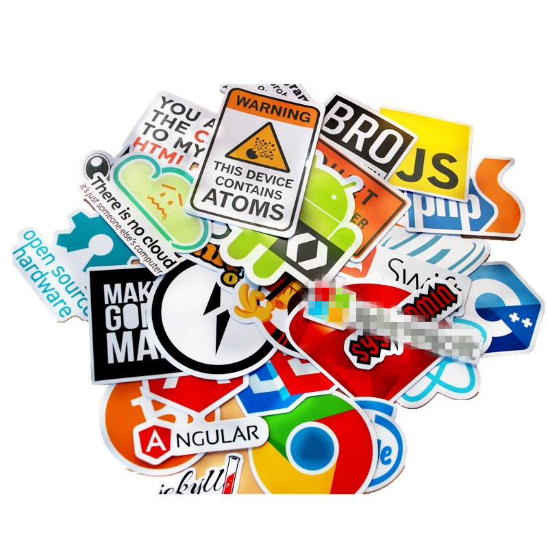 50Pcs Java Internet JS Php Docker Bitcoin Html Cloud Programming Language  APP Logo Funny Stickers for Laptop Car DIY Stickers