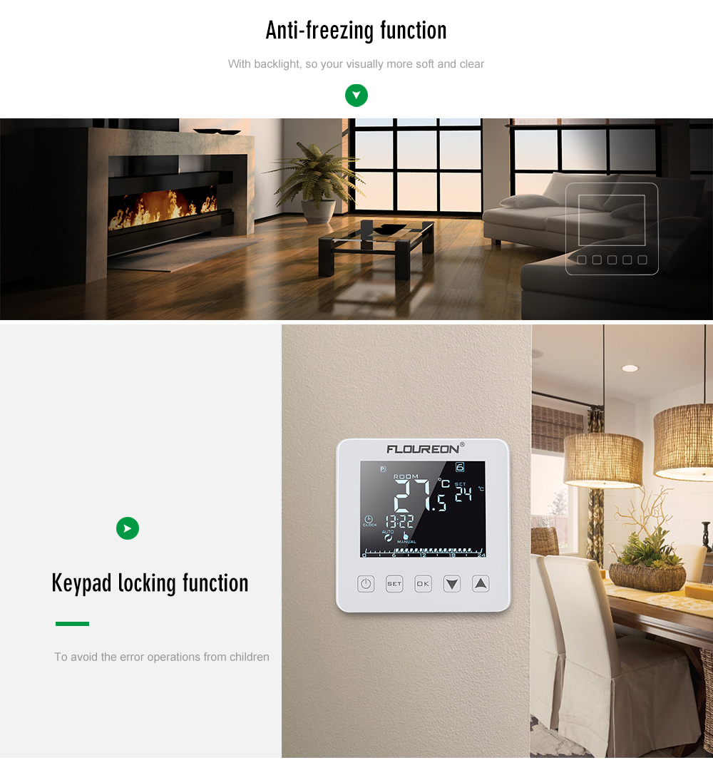 Neue Floureon HY08WE 2 Fußbodenheizung Thermostat 16 Eine LCD ...