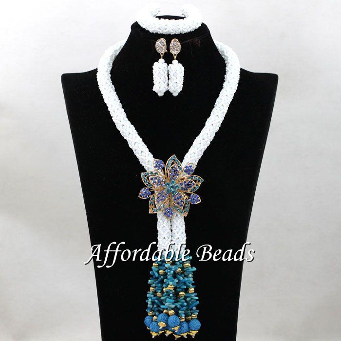 Free Shipping Indian Bridal Jewelry Set Rare African Wedding Set Popular Design Wholesale HEB112