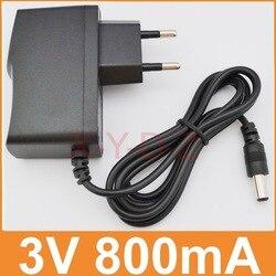 1 шт. 3 в 800 мА Высокое качество AC 100 в-240 в конвертер Импульсный адаптер питания DC 3 в 0.8A 800mA поставка штепсельная вилка EU DC 5,5 мм x 2,1 мм