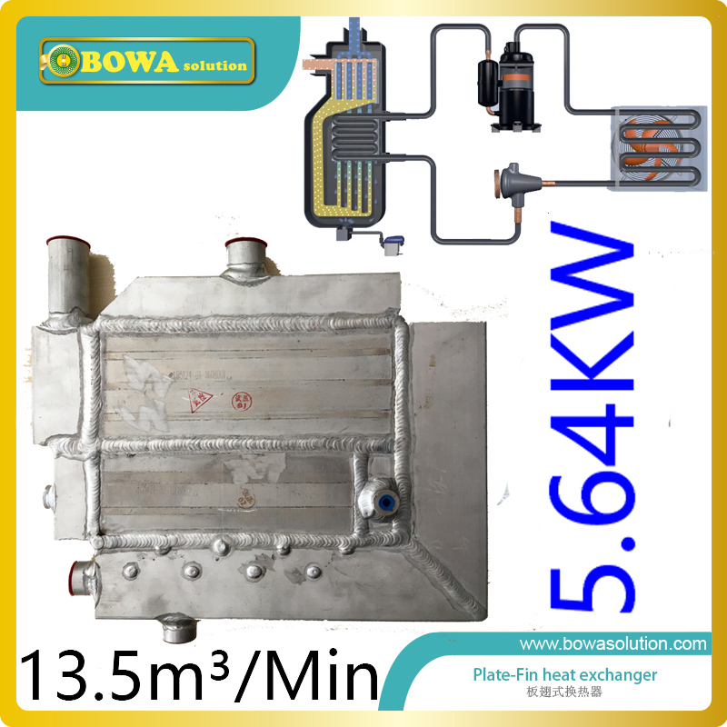 13.5m3/min 5.65KW cooling capacity special heat exchanger with water drain pipe for air compressor unit 5 pcs qdzh35g r134a 12v cooling compressor for marine refrigeration unit