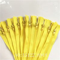 50pcs ( 12 Inch ) 30 CM Yellow Nylon Coil Zippers Tailor Sewer Craft Crafter's &FGDQRS #3 Closed End