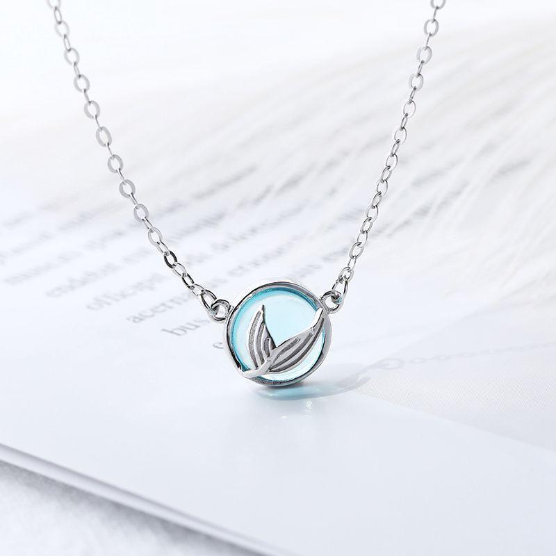 Blau Anhänger Halskette für Frauen