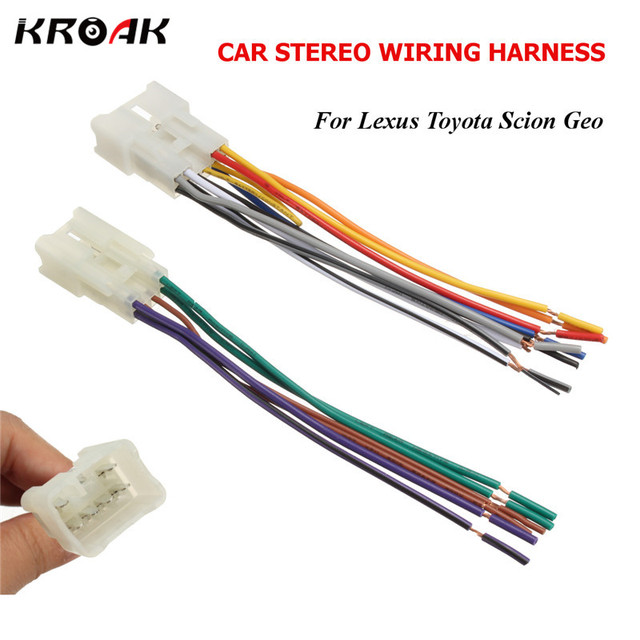 KROAK Car Audio Stereo Radio CD Player Wiring Harness DVD Adapter Plug For Toyota Lexus Scion_640x640 kroak car audio stereo radio cd player wiring harness dvd adapter