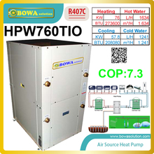 Super high COP geothermal/water source heat pump water heater and super high EER water chiller for air conditioner