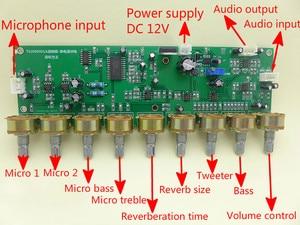 Image 3 - GHXAMP T62M0001A オーディオミキサーボードステレオカラ Ok 残響ボードプリアンプトーンと高音と低音調整 DC12V 1 pc