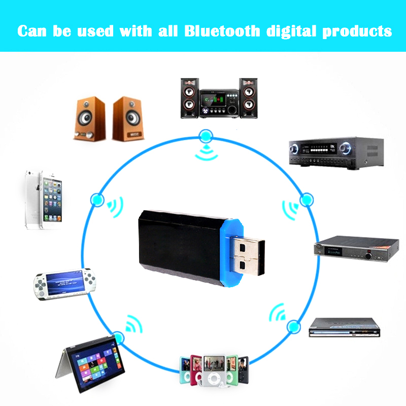 2018 New Multifunctional innovative USB Bluetooth Receiver Adapter for iphone /Android Cellphone Computer
