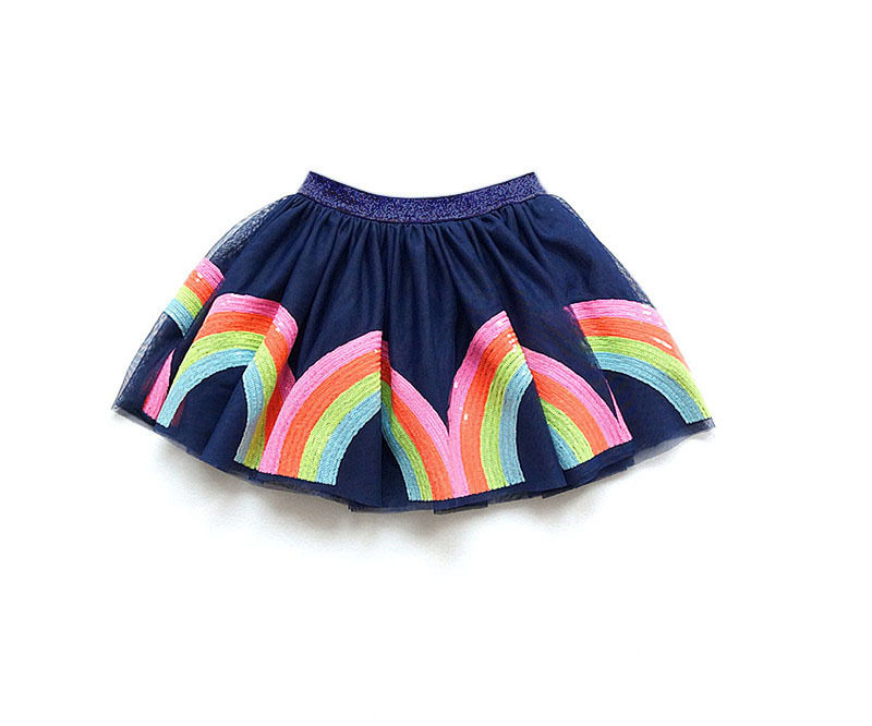 Newest Baby Girl Skirt Kids Unicorn Sequined Rainbow Tutu Skirts Hot Selling Pettiskirt Tutu Custome Party Wedding Dance Skirt