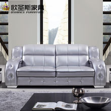 2017 new design italy Modern leather sofa ,soft comfortable livingroom genuine leather sofa ,real leather sofa set 321 seat 636A(China)