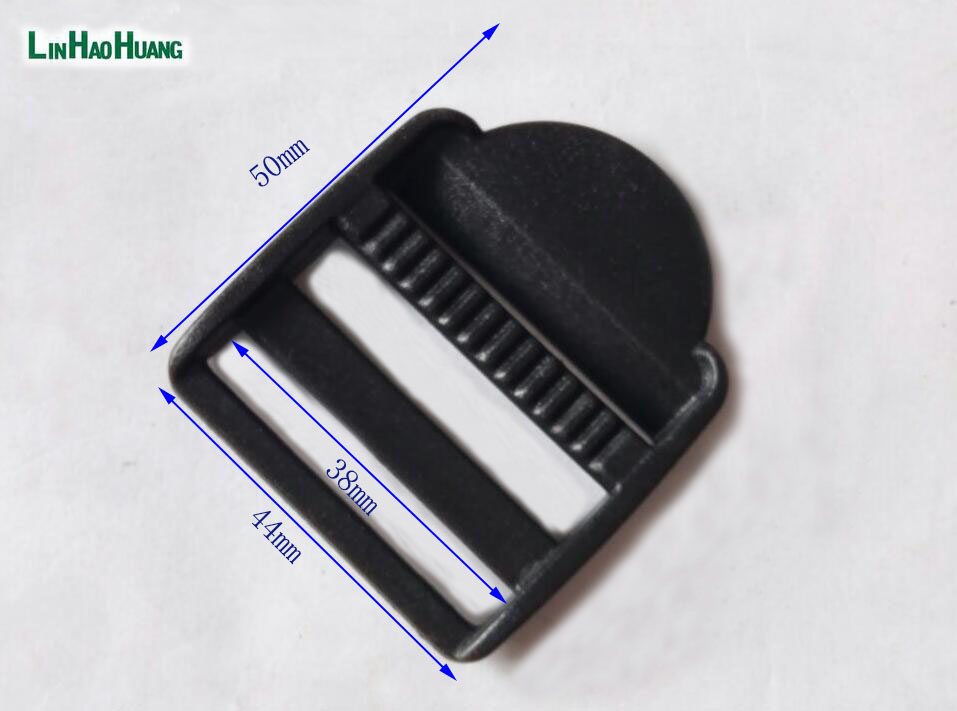 709642e1943a 50 pcs 38mm 1.5 pouce noir en plastique réglable boucles Tri Glide curseur  boucles pour sac à dos la sangle M016-38 livraison gratuite