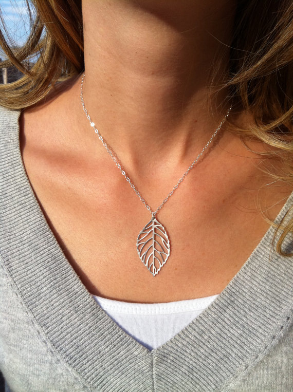 YANA Jewelry 2015 New Gold And Sliver One Leaf Pendants Necklace Chain Europe statement necklaces Woman Gift  SALE 54