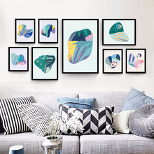 Modern Minimalistic Abstract Colorful Stone Shapes Canvas Painted Art Print Poster Picture Wall Office Bedroom Home Decor A2 A3