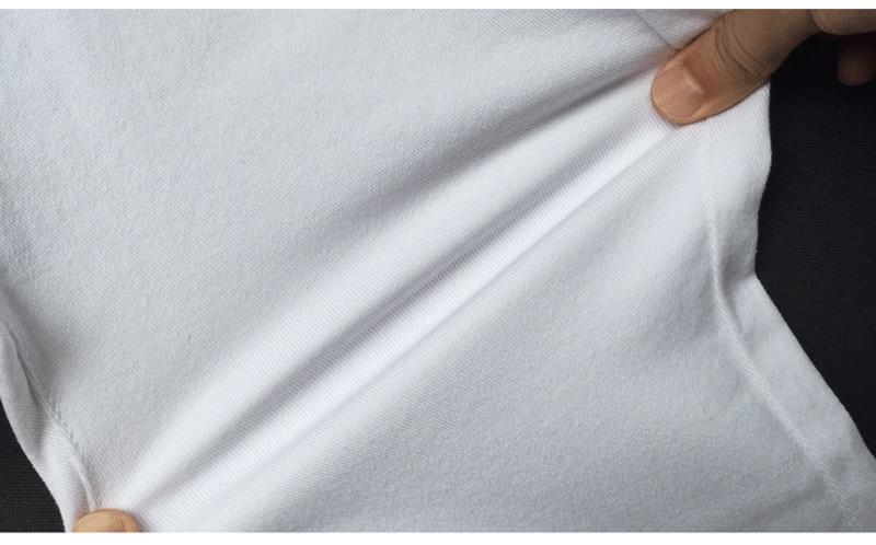 2018 Բարձր իրանի սպիտակ ջինսե անցք - Կանացի հագուստ - Լուսանկար 2