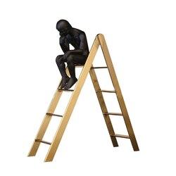Огюст Роден мыслитель скульптура милый Мыслитель на лестничном стекле показывать книжную полку классический Декор для дома черный человек...