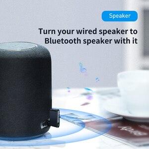 Image 3 - Baseus Bluetooth מקלט 3.5mm אלחוטי אודיו מקלט אוטומטי Bluetooth 5.0 מתאם לרכב רמקול אוזניות דיבורית עם מיקרופון