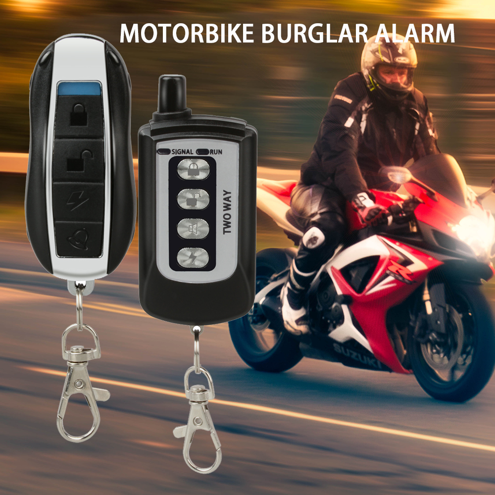 2 Way Motorcycle Alarm System Motorbike Anti Theft