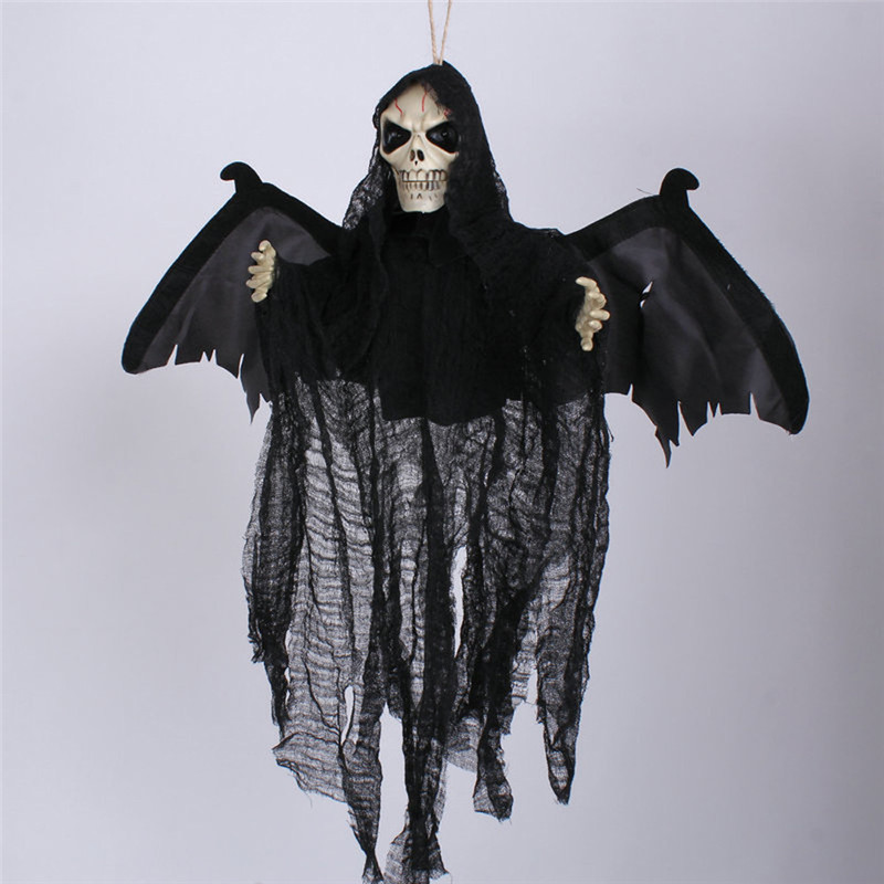2016 voice sound control creepy scary animated skeleton ghost halloween party decoration haunted house prop carnival supply - Free Halloween Sounds Mp3