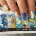 1 упак. ногтей обертывания Полное Покрытие акварель Скорость Липкие Наклейки Ногтей Искусство Украшения наклейки красоты наклейки на ногти аксессуары C048