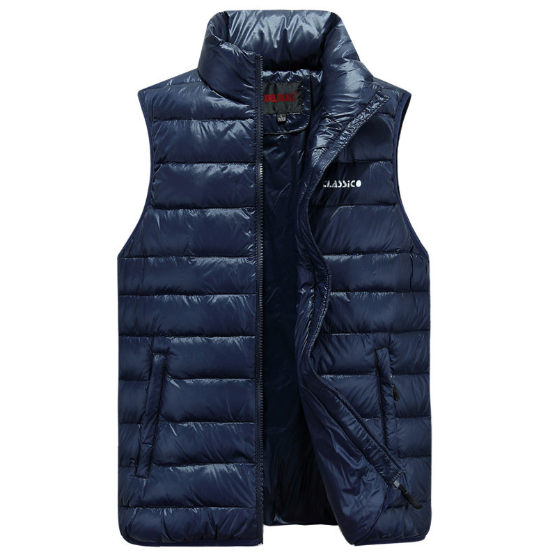 2017 Winter Brand Mens Down Casual Vest Designer Down Dress Vests Homme Fashion Thick Warm