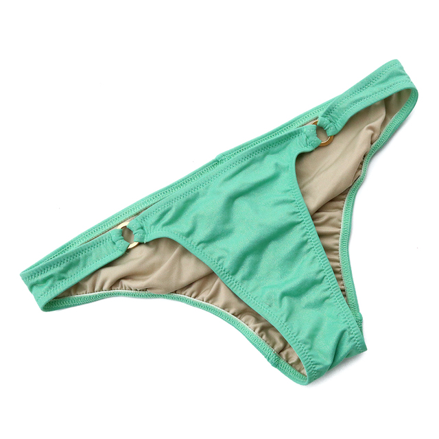 2018 Women Green Gilding Bikini Bottoms Sexy Secret Swimwear Biquini