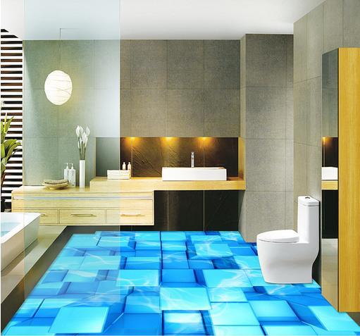 ФОТО customize pvc flooring self adhesive wallpaper 3d floor stereoscopic Box 3d floor tiles wallpaper photo mural