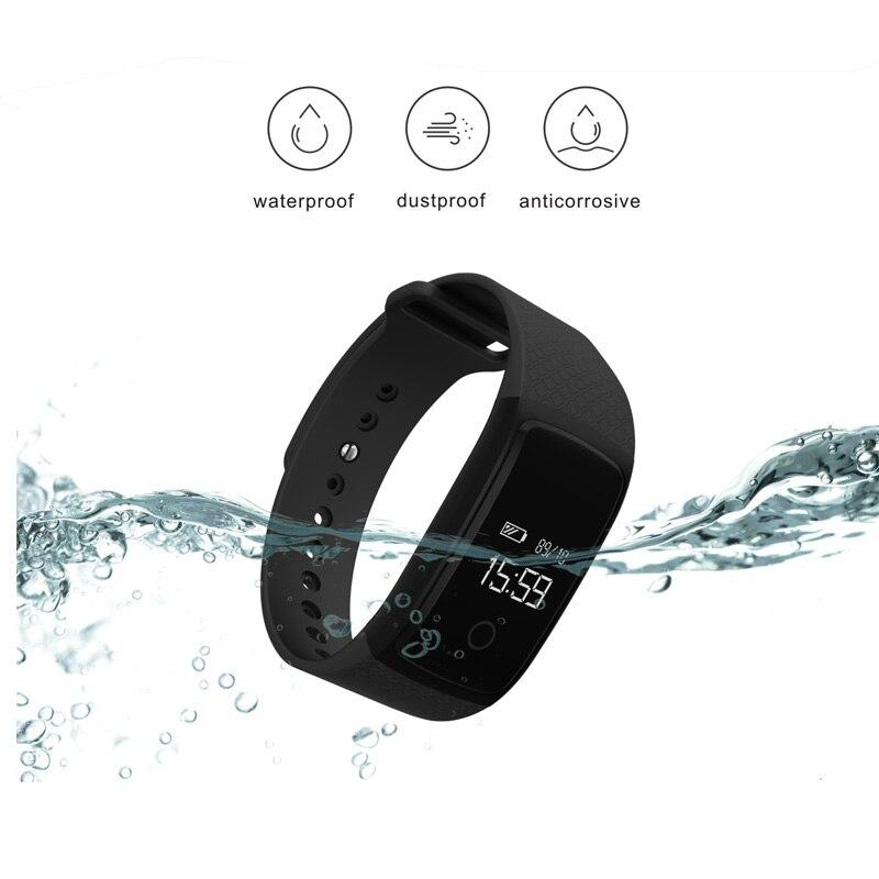 imágenes para Deporte Elegante pulsera de la pulsera SmartBand con Podómetro Del Ritmo Cardíaco Reloj de la Aptitud de Oxígeno Arterial Monitor de Presión Para iOS Android