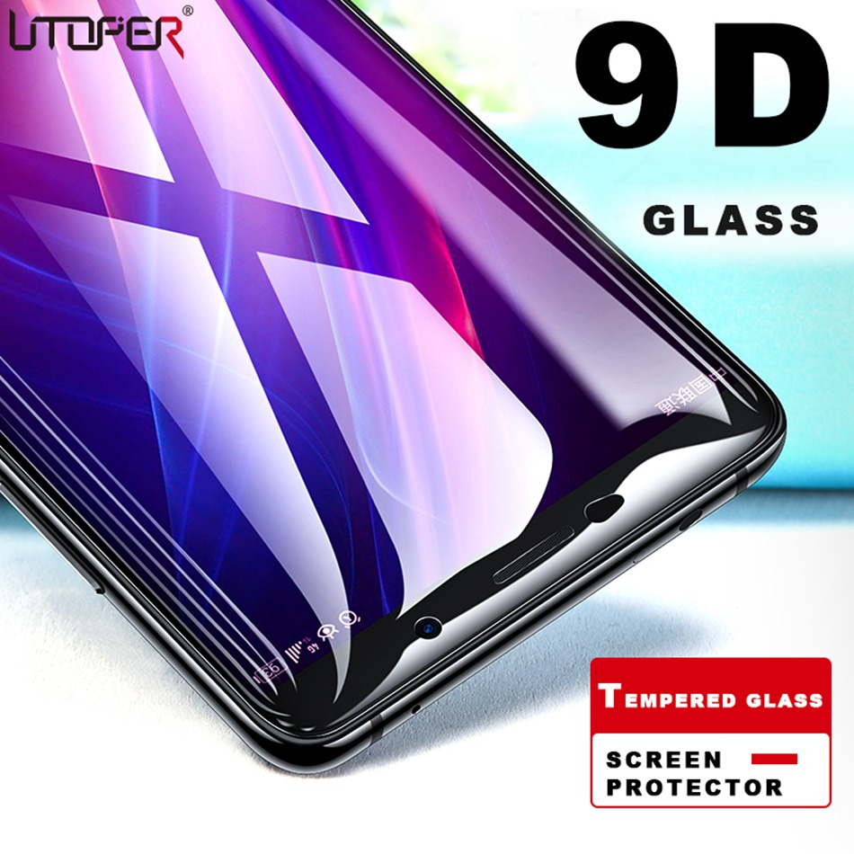 UTOPER 9D Tempered Protective Glass For Honor 8X Screen Protector For  Huawei Honor
