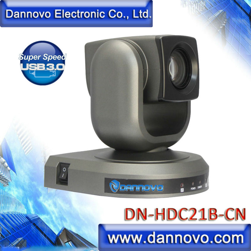 DANNOVO USB 3.0 1080 p 720 p HD Câmera PTZ para o Microsoft Lync, 20X Zoom Óptico, suporte VISCA & Pelco-D