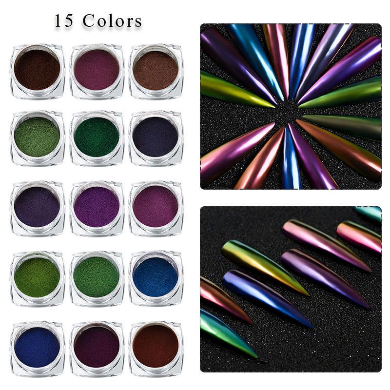 Erfüllen Über 1 Box 0,2g Chameleon Pfau Holographische Laser Nagel Pulver Spiegel Wirkung Nail Art Chrome Pigment Nail Glitter Decor Nails Art & Werkzeuge Nagelglitzer