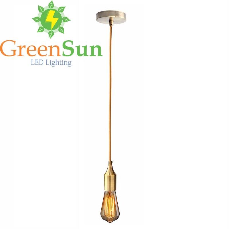 Retro E27/E26 Ceiling Pendant Lamp Copper Holder Light Hanging Socket Fitting 110V-250V Lamp Bases Light Adaptor