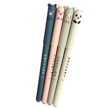 30pcs/lot 0.35mm Cute Pig Panda Mouse Bear Erasable Gel Pen Rollerball Pen Gift Stationery School & Office Supply Wholesale