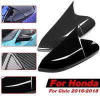 1 Pair Car Auto Rear View Mirror Covers Caps for Honda Civic 2016 2017 2018 2019