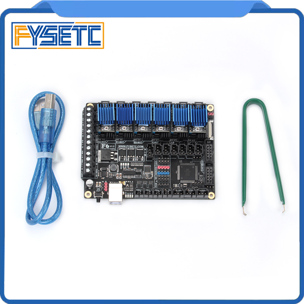 цена 6pcs LV8729 Stepper Motor Driver + FYSETC F6 Board ALL-in-one Electronics Solution F6 V1.3 For 3D Printer CNC Devices