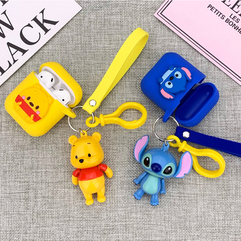Bluetooth Earphone Cartoon Cute Silicone Case for Apple Airpods Case Cover Accessories 1 2 Case Headphones Protective Cover Bag
