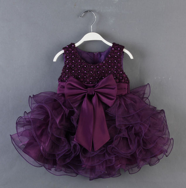 2017 Girls Sequins Occasion Party Wedding Bubble Bow Layered Tulle Formal Dress