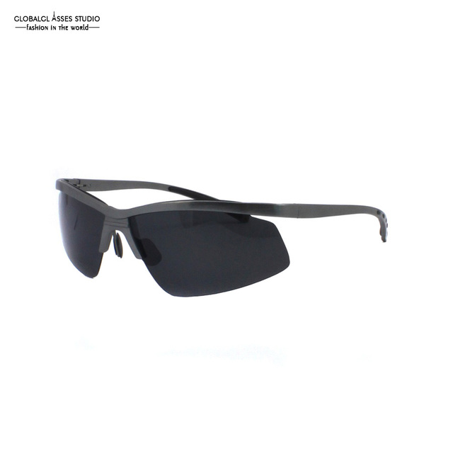 Ultra Light Fashion Design Style Very unique and ingenious Dark Gray frame Male Aluminum Sunglasses A103