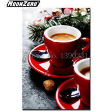 5D DIY Diamond Painting Coffee picture Square Mosaic Embroidery Crafts Home Decor Gift Full WYZ181102